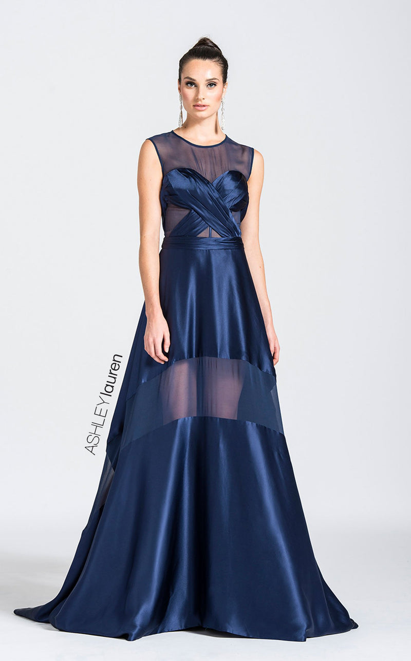 Ashley Lauren 1115 Dress Navy
