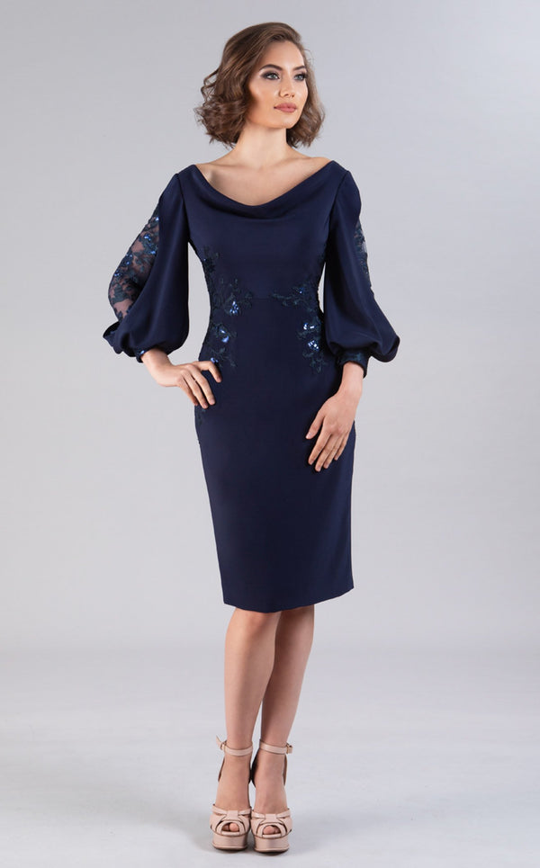 Gia Franco 12055 Dress Navy