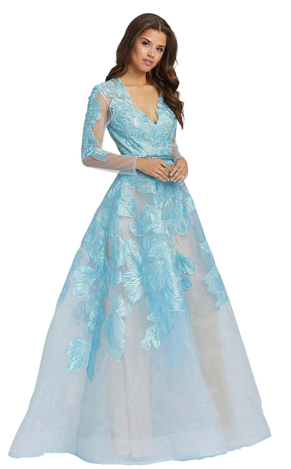 Mac Duggal 12347D Ice-Blue