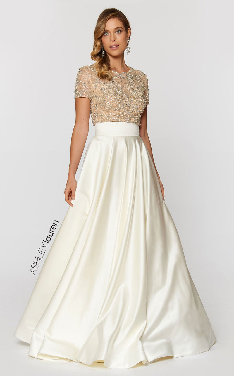 Ashley Lauren 1251 Dress Ivory