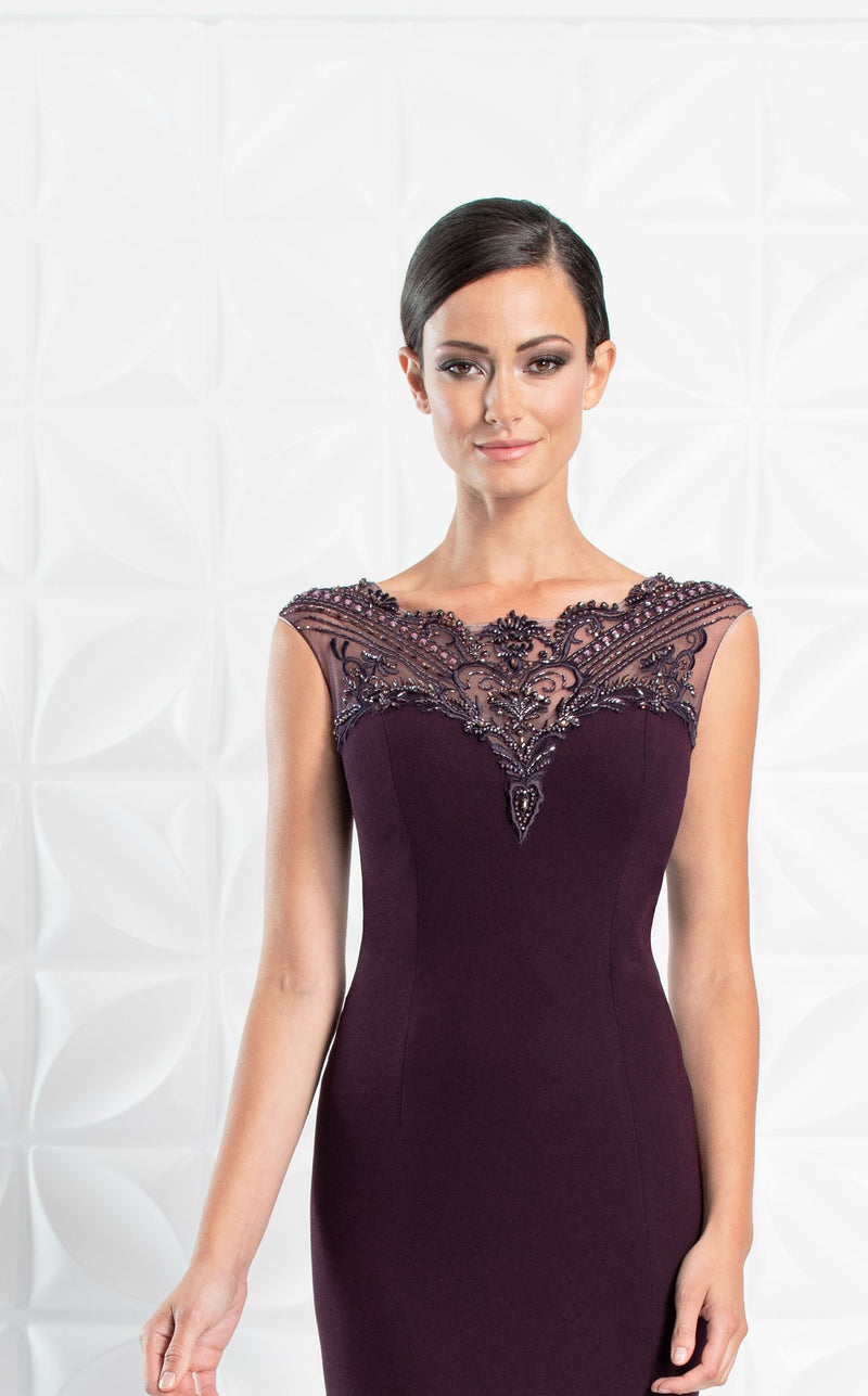 Daymor 1255 Dress Aubergine