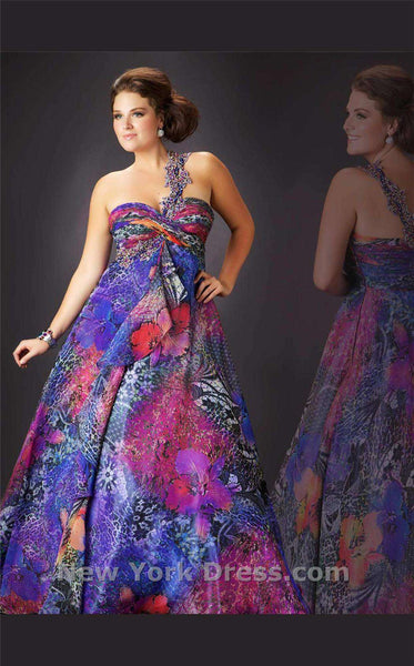 Mac Duggal 42508F Purple Multi