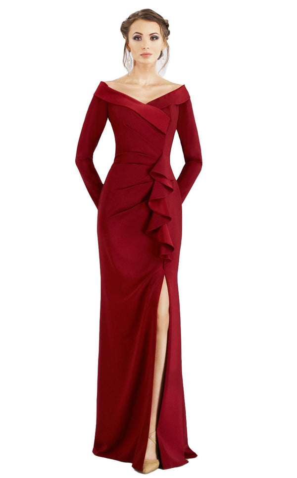 Gia Franco 12957 Dress Wine