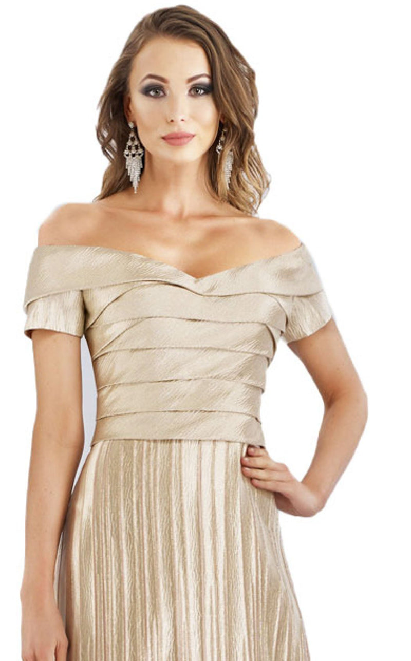 Gia Franco 12960 Dress Champagne