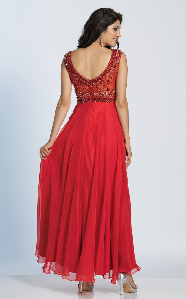 Dave and Johnny 1363 Dress Red