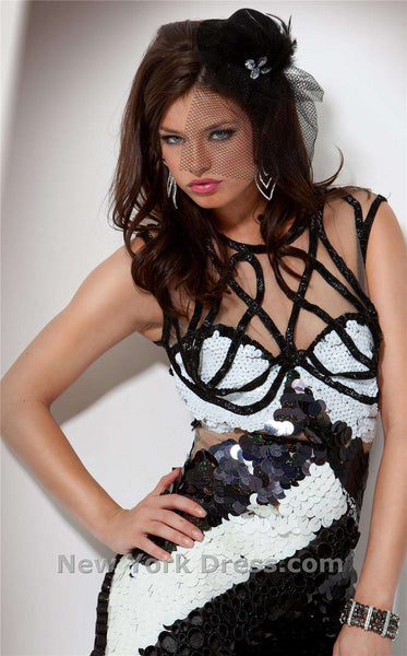 Jovani 9396 Black/White