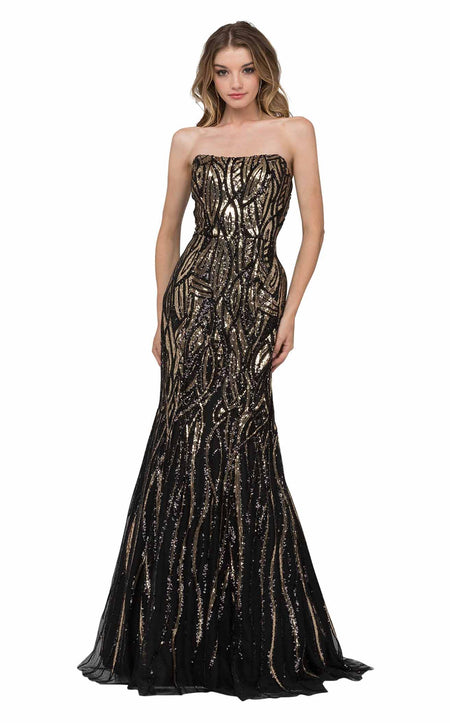 Portia and Scarlett Brocade Gown Dress