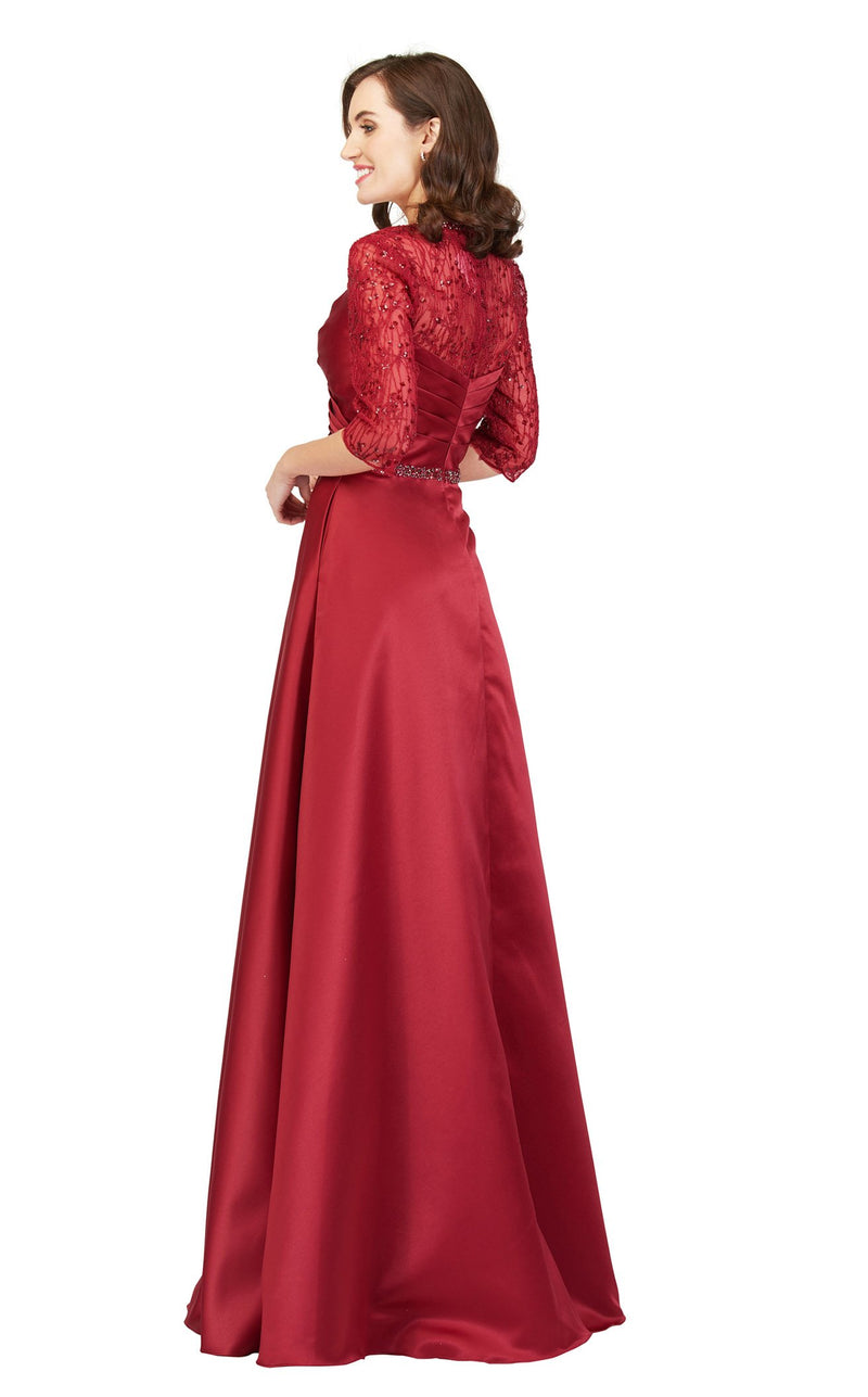 Cecilia Couture 1845 Burgandy