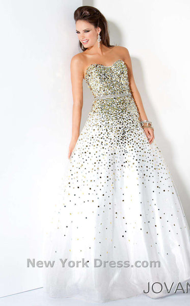 Jovani 3068 White/Gold