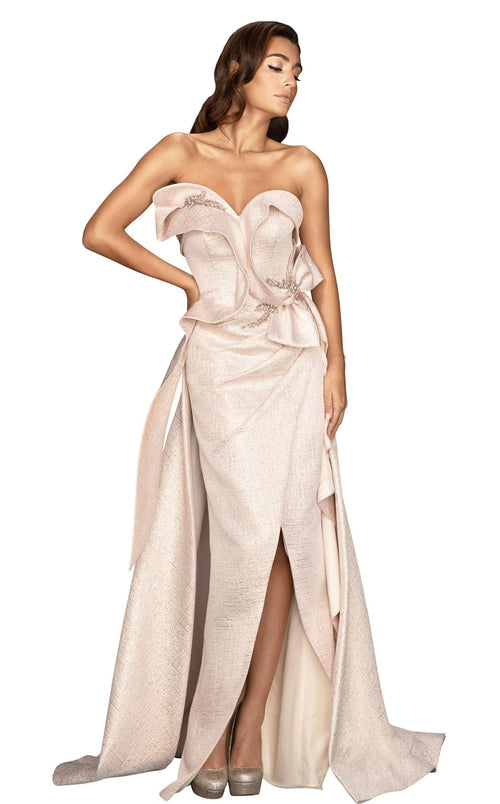 Terani 2011E2073 Dress Rose-Gold