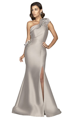 Terani 2011E2427 Dress Taupe-Ivory