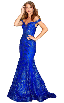 Amarra 20156 Dress Royal-Blue