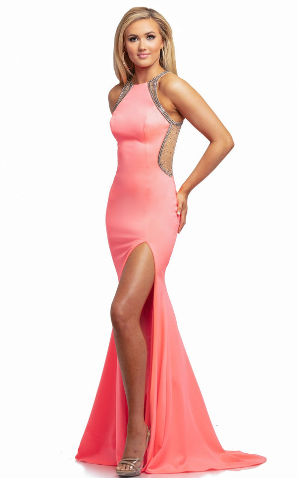 Johnathan Kayne 2023 Dress Hot-Coral