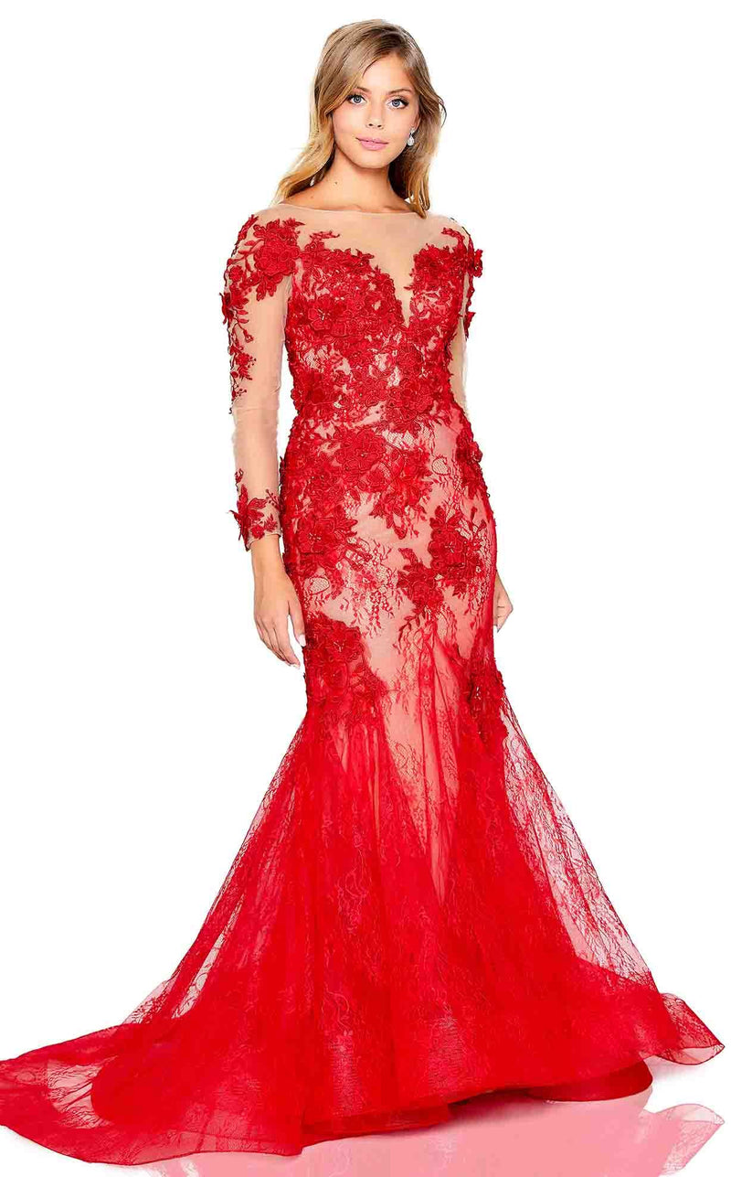 Amarra 20253 Dress Red-Nude