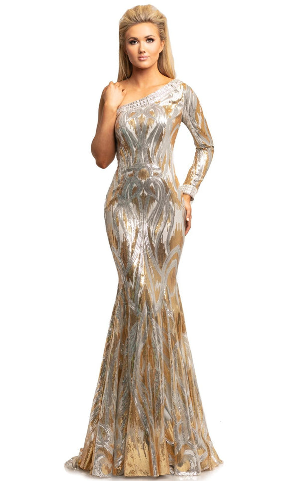Johnathan Kayne 2031 Dress Gold-Silver