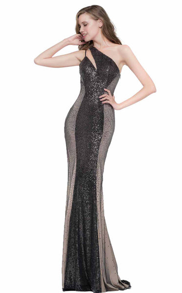 Colors Dress 2038 Black-Nude