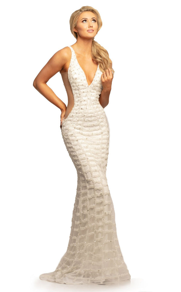 Johnathan Kayne 2043 Dress White