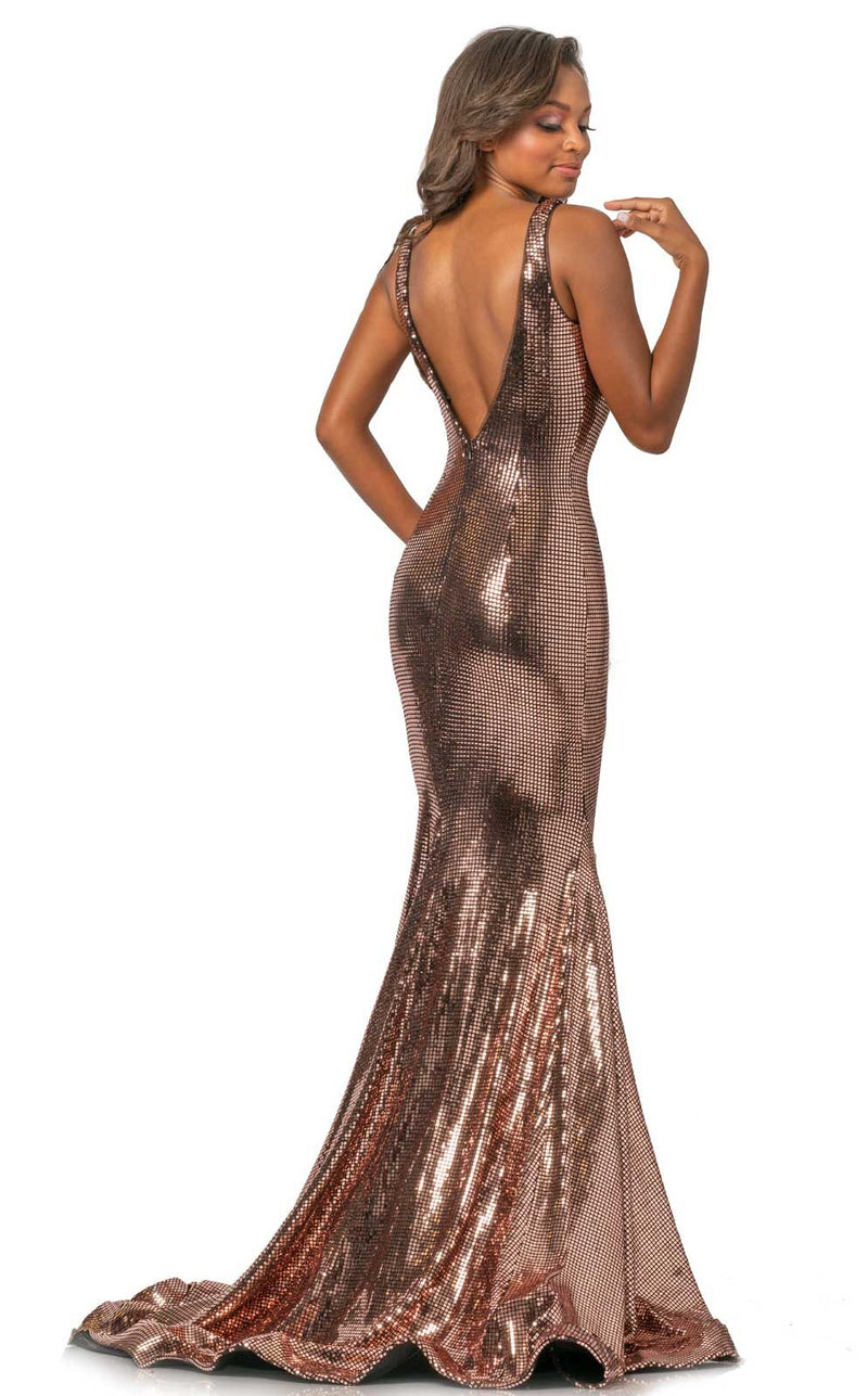 Johnathan Kayne 2044 Dress Rose-Gold