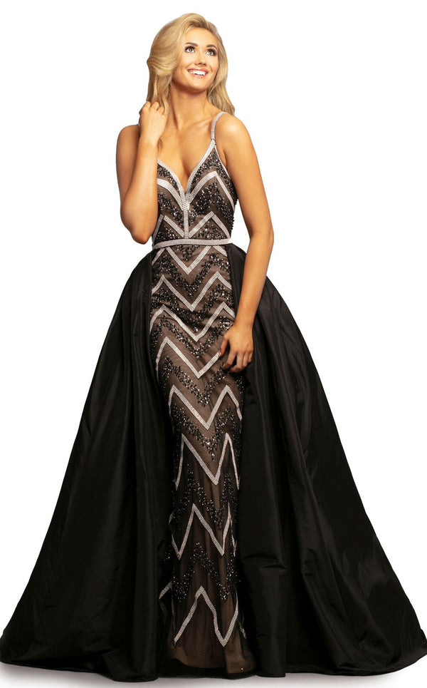 Johnathan Kayne 2052 Dress Black-Nude