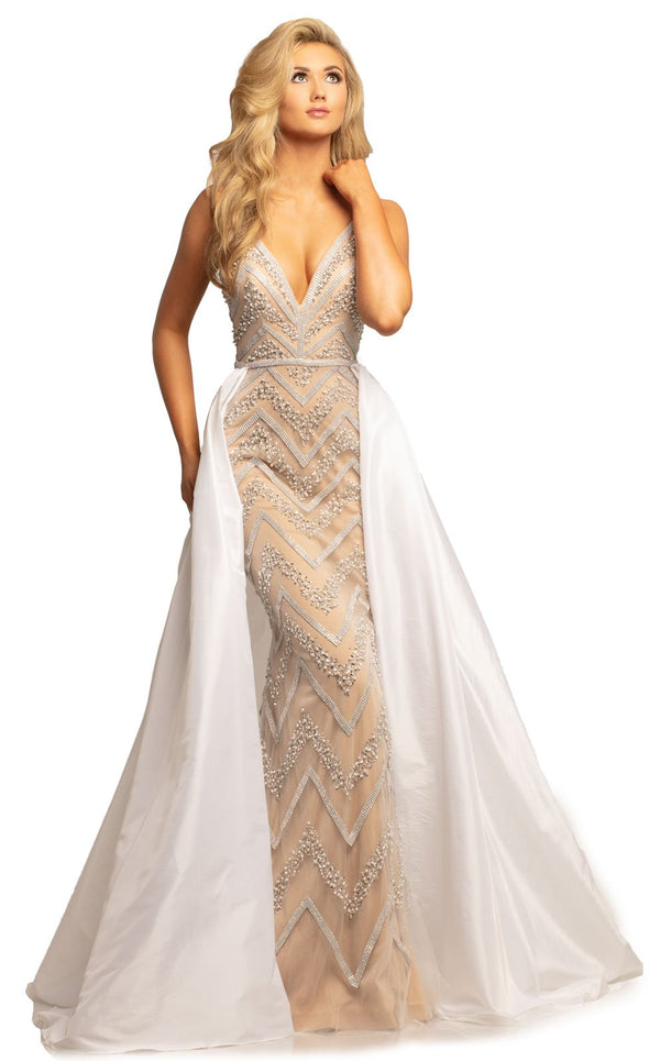 Johnathan Kayne 2052 Dress Ivory-Nude