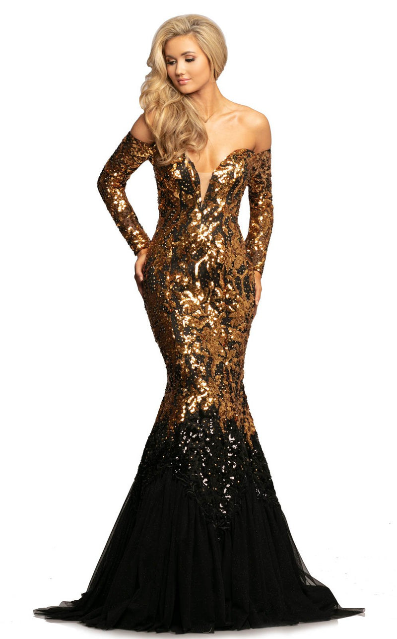 Johnathan Kayne 2062 Dress Gold-Black