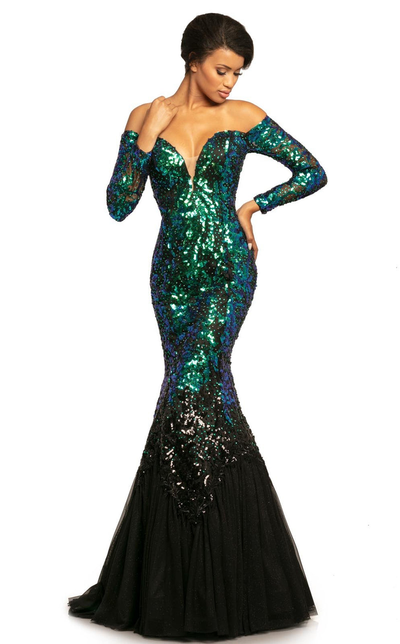 Johnathan Kayne 2062 Dress Mermaid-Black