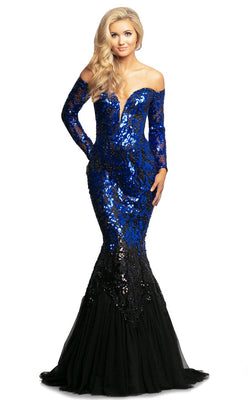 Johnathan Kayne 2062 Dress Royal-Black