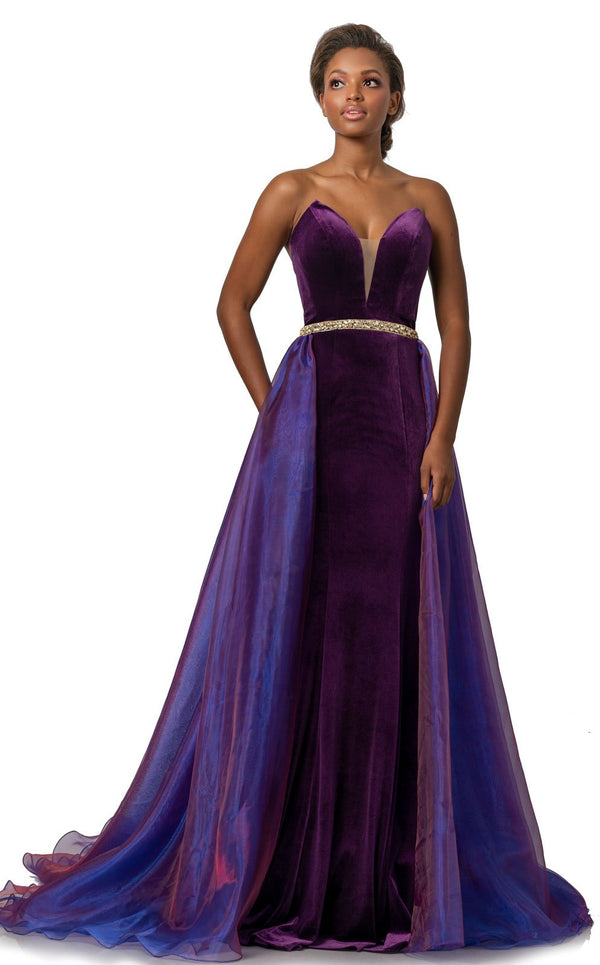 Johnathan Kayne 2063 Dress Boysenberry