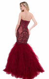 Colors Dress 2067 Wine-Nude