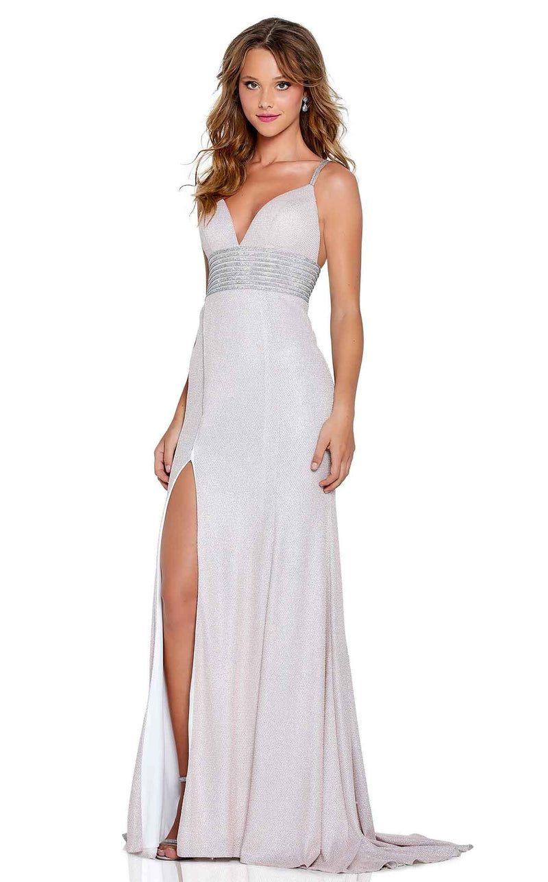 Amarra 20702 Dress Platinum-Seafoam