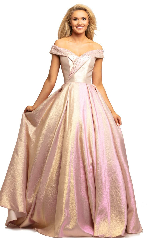 Johnathan Kayne 2072 Dress Pink-Gold