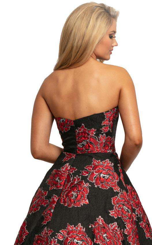 Johnathan Kayne 2078 Dress Black-Red