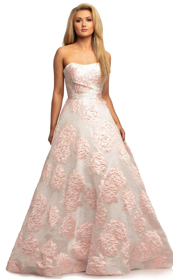 Johnathan Kayne 2078 Dress White-Pink