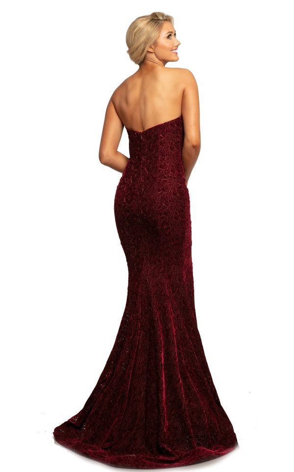 Johnathan Kayne 2086 Dress Burgundy