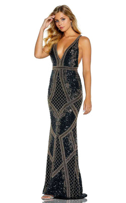 Amarra 20933 Dress Black-Gold