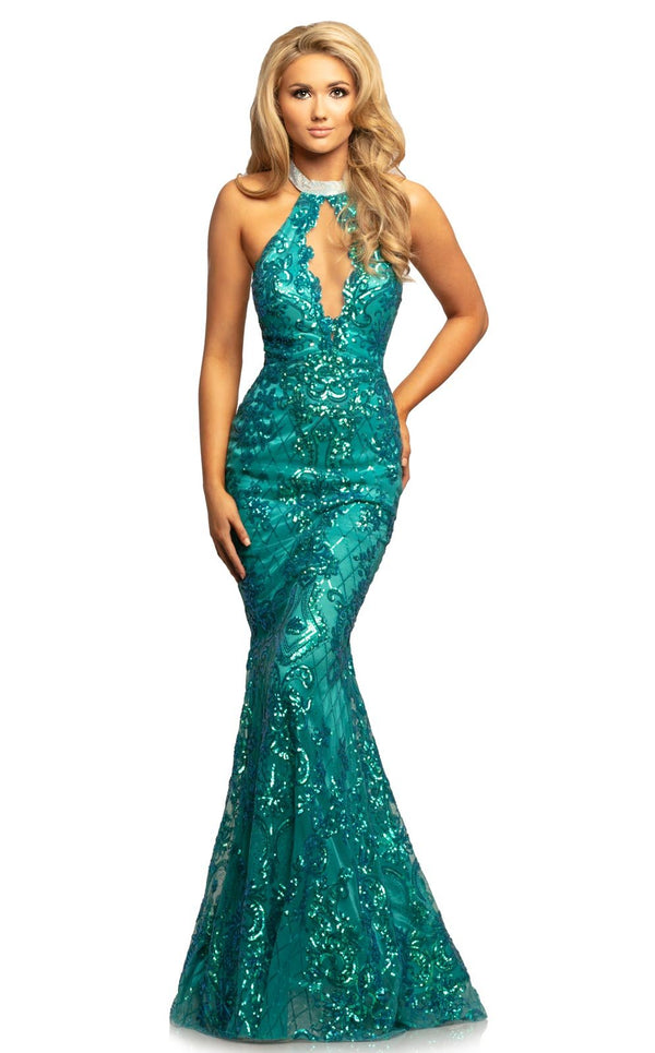 Johnathan Kayne 2093 Dress Teal