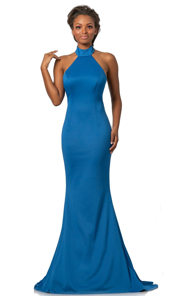 Johnathan Kayne 2096 Dress Cobalt-Blue