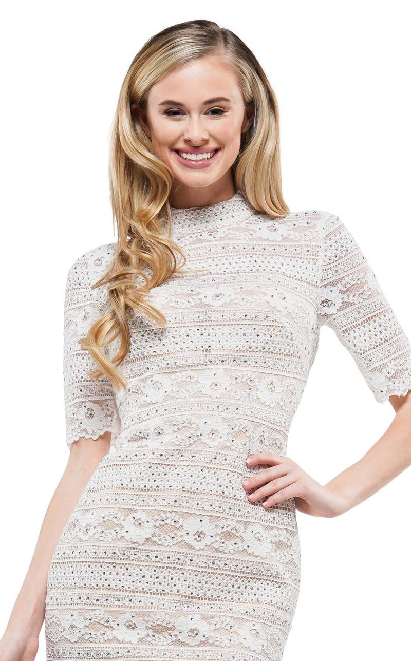 Colors Dress 2162 Dress White-Nude