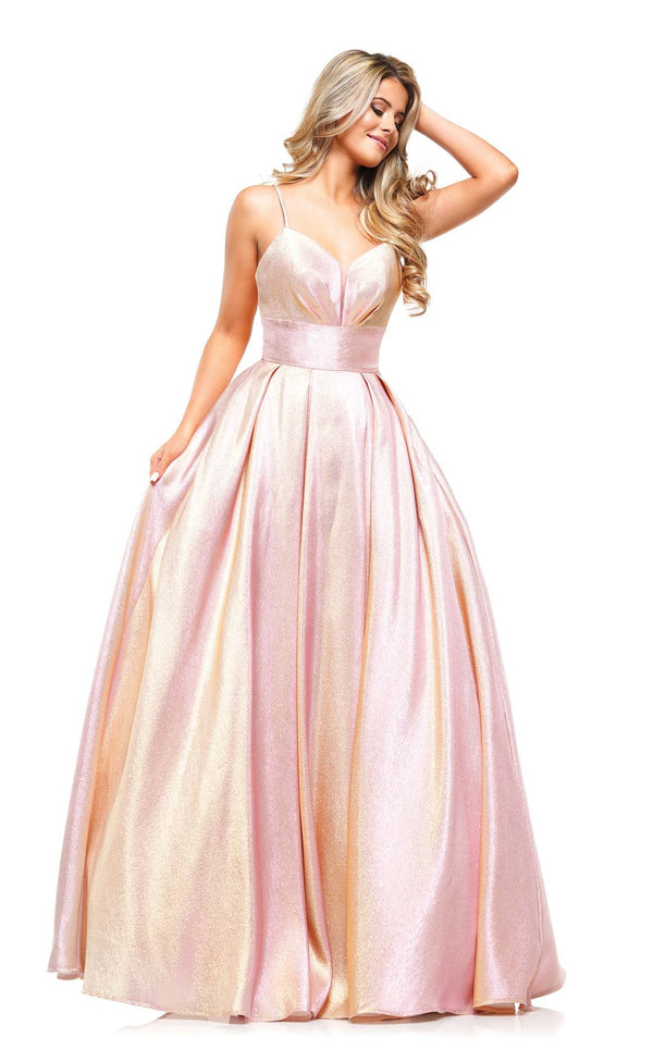 Colors Dress 2164 Dress Pink-Gold