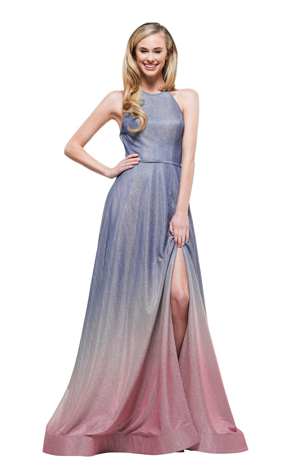 Colors Dress 2165 Dress Blue-Pink