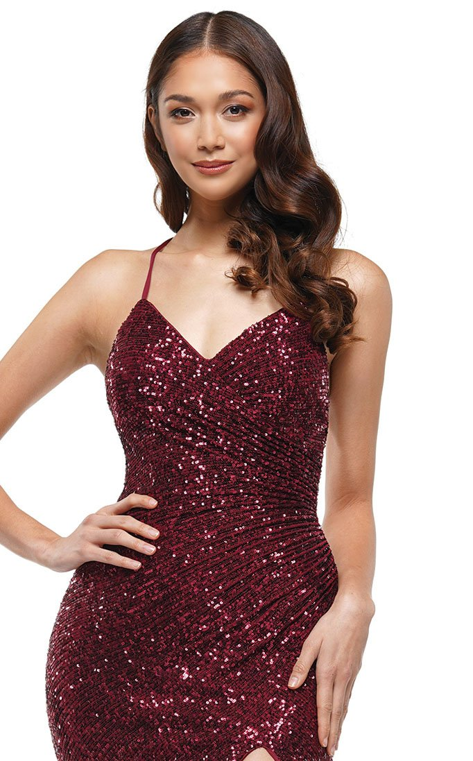 Colors Dress 2188 Dress Wine