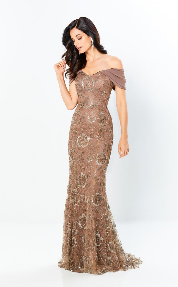 Montage 220945 Dress Taupe-Bronze