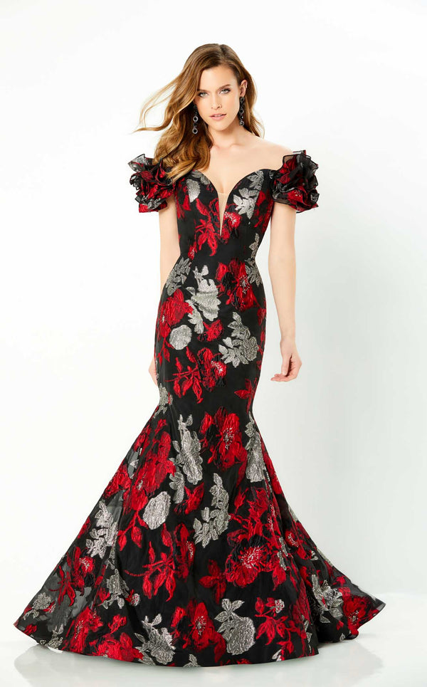 Montage 220952 Dress Red-Silver-Black