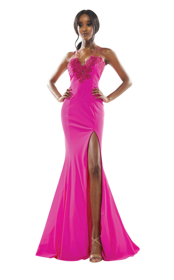 Colors Dress 2302 Dress Hot-Pink