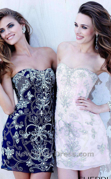 Sherri Hill 2817 Navy Blue