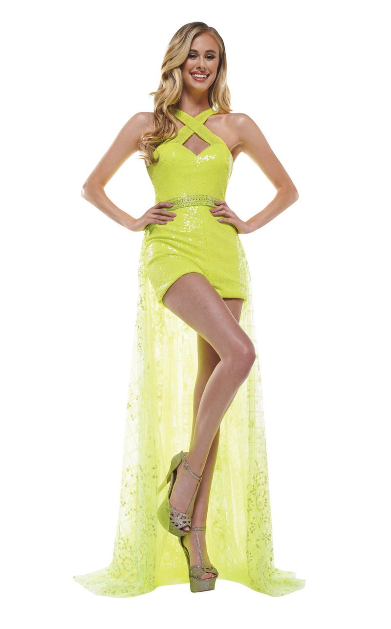 Colors Dress 2346 Dress Lime