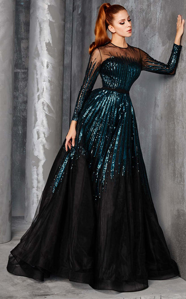 MNM Couture 2449A Dress Teal