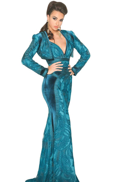 MNM Couture 2517 Dress Petrol