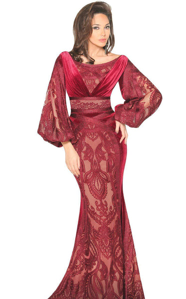 MNM Couture 2518 Dress Burgundy