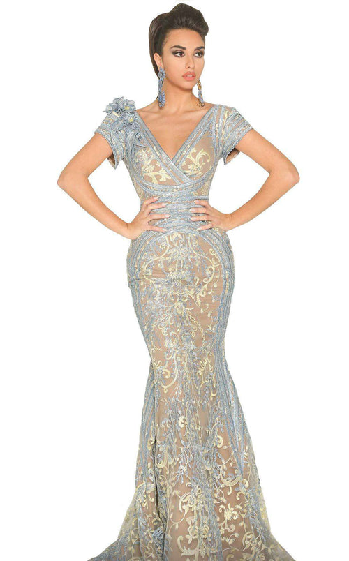 MNM Couture 2521 Dress Blue